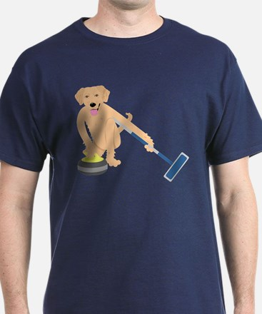 Golden Retriever Curling T-Shirt