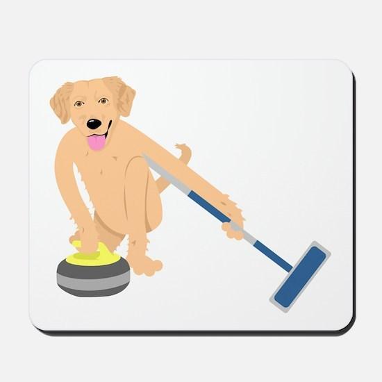 Golden Retriever Curling Mousepad