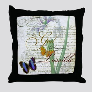 All things are possible Throw Pillow