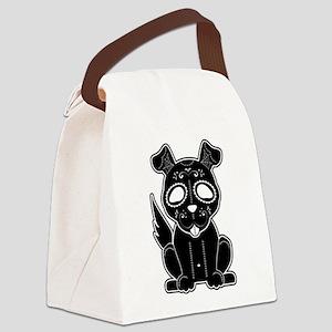 Sugar Puppy - Black Canvas Lunch Bag