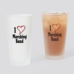 I Love Marching Band Drinking Glass
