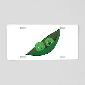 Two Peas Aluminum License Plate