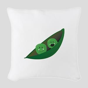 Two Peas Woven Throw Pillow