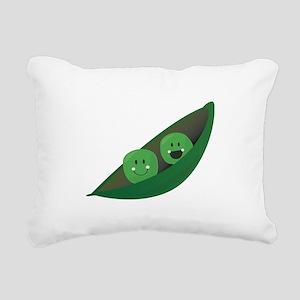 Two Peas Rectangular Canvas Pillow