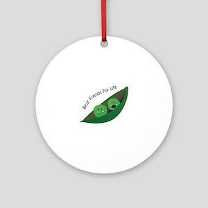 Best Friend Peas Ornament (Round)