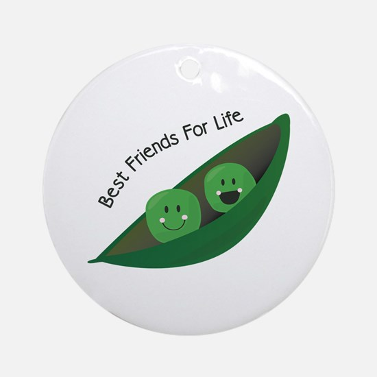 Best Friend Peas Ornament (Round)