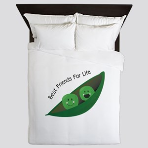 Best Friend Peas Queen Duvet
