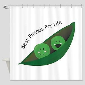Best Friend Peas Shower Curtain