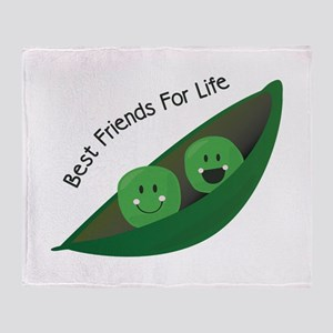 Best Friend Peas Throw Blanket