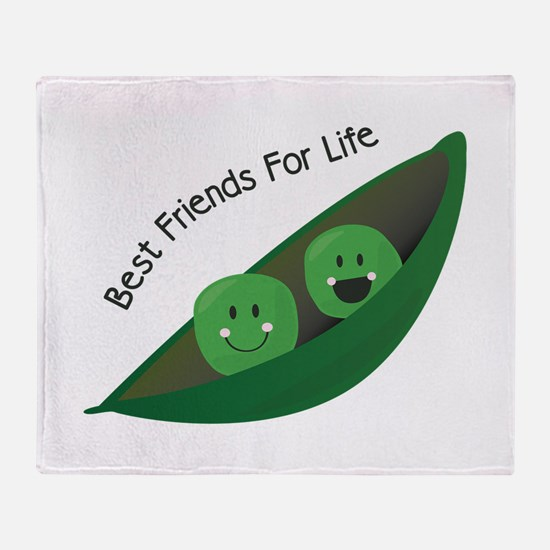 Best Friend Peas Throw Blanket