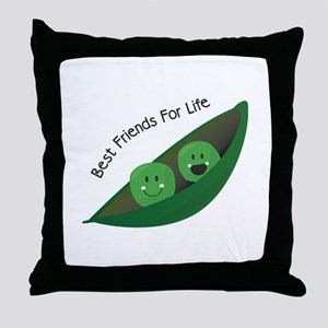 Best Friend Peas Throw Pillow