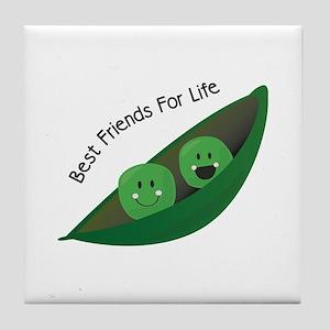 Best Friend Peas Tile Coaster
