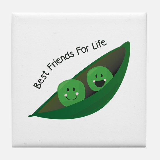 Best Friend Peas Tile Coaster