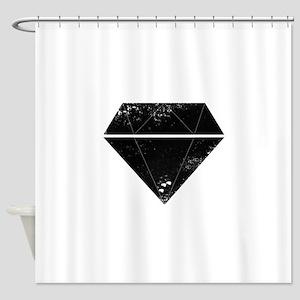 Diamond Grunge Shower Curtain