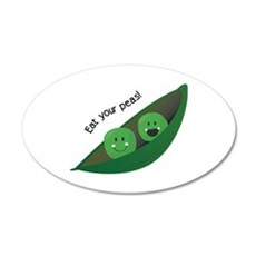 Eat Your Peas Wall Decal