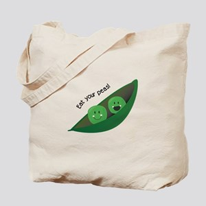 Eat Your Peas Tote Bag