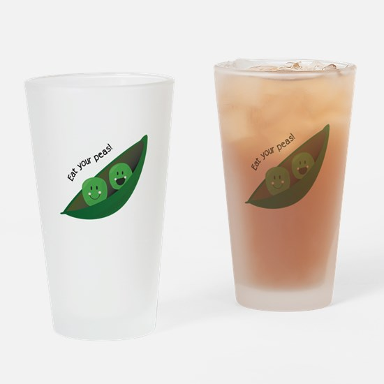 Eat Your Peas Drinking Glass