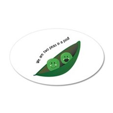 Two Peas in Pod Wall Decal