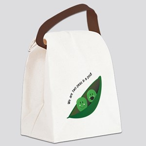Two Peas in Pod Canvas Lunch Bag