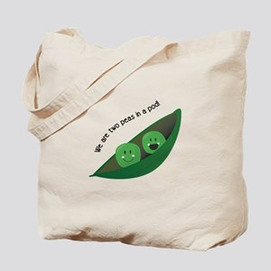 Two Peas in Pod Tote Bag