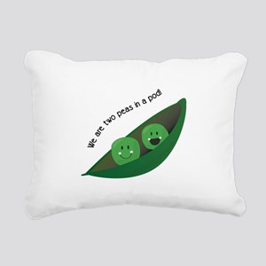 Two Peas in Pod Rectangular Canvas Pillow