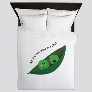 Two Peas in Pod Queen Duvet