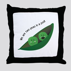 Two Peas in Pod Throw Pillow
