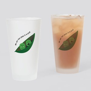 Two Peas in Pod Drinking Glass