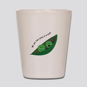 Two Peas in Pod Shot Glass
