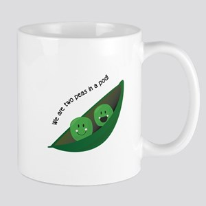 Two Peas in Pod Mugs