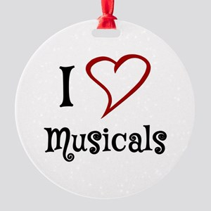 I Love Musicals Ornament