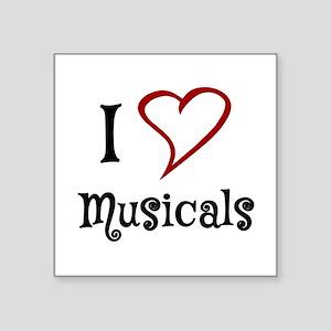 I Love Musicals Sticker