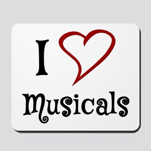 I Love Musicals Mousepad