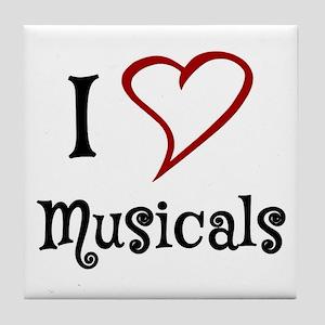 I Love Musicals Tile Coaster