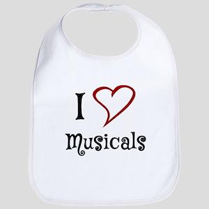 I Love Musicals Bib