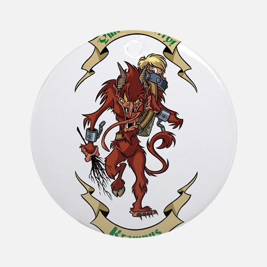 Krampus Yule Be Sorry! Ornament (Round)