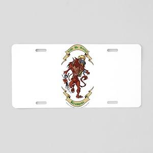 Krampus Yule Be Sorry! Aluminum License Plate
