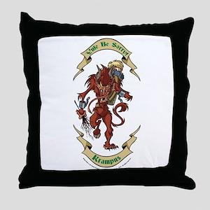 Krampus Yule Be Sorry! Throw Pillow
