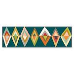 Mod Diamonds Bumper Sticker