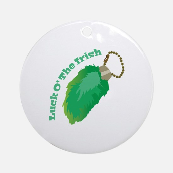 Luck O Irish Ornament (Round)