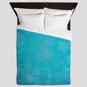 Winter Snowflakes Queen Duvet