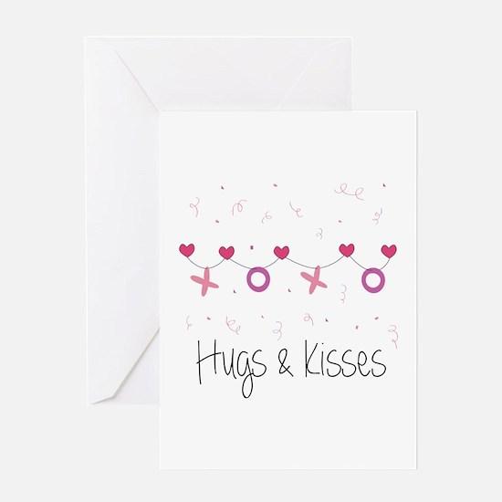 Hugs Kisses Greeting Cards