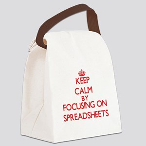 Keep Calm by focusing on Spreadsh Canvas Lunch Bag