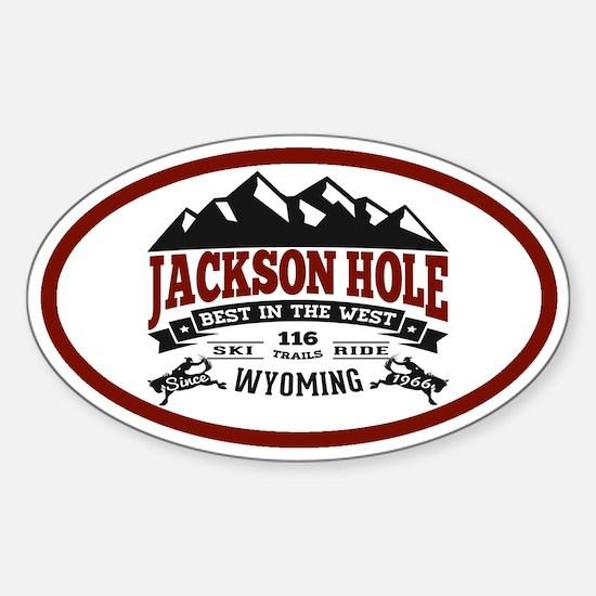 Jackson Hole Vintage Sticker (Oval)