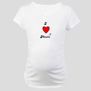 I LOVE MUSIC Maternity T-Shirt