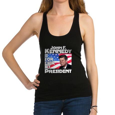 White JFK Forever Racerback Tank Top
