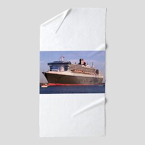 Cruise Ship 2: Queen Mary 2 Beach Towel