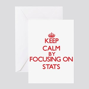 Keep Calm by focusing on Stats Greeting Cards