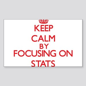 Keep Calm by focusing on Stats Sticker