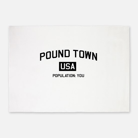 Poundtown Population You 5'x7'Area Rug